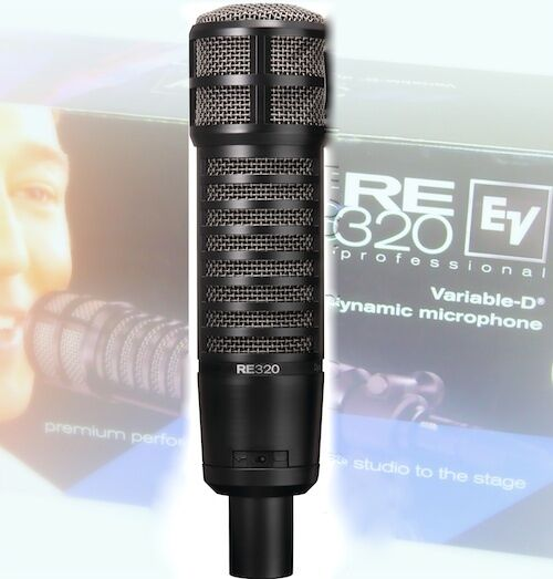 New Variable-D Humbucking Coil Electrovoice RE320 Dynamic Versatile Mic