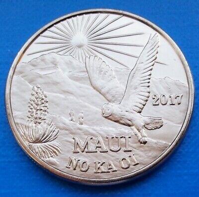 Maui Hawaii Two Trade Dollars 2017 UNC Owl Bird
