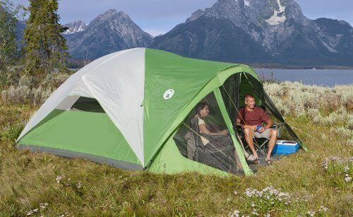 Fully Screened Tent  Coleman Evanston With A Footprint Sleeps 6 Persons 14' x 10'  authentic
