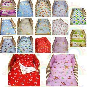cot-bedding-set-2-PIECE-baby-BED-SET-DUVET-cover-PILLOW-case-FITTED-SHEET