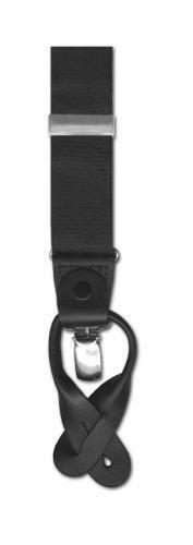 bretelles style traditionnel bouton ou à clipser combinaison bretelles noir
