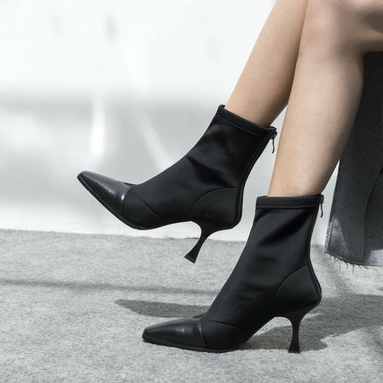 New  Women's Pointy Toe Stilettos High Heel Ankle Boots Winter Zip shoes b88w