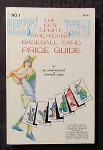 The-1979-Sport-Americana-BASEBALL-CARD-PRICE-GUIDE-1-1st-Beckett-FN-6-0