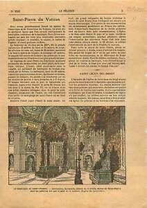 St-Peter-039-s-Basilica-Basilique-Saint-Pierre-du-Vatican-Rome-1925-ILLUSTRATION