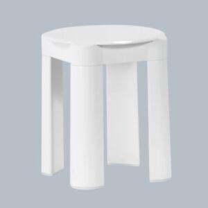 Das Bild Wird Geladen Badhocker Badezimmerhocker Hocker Kunststoff Weiss