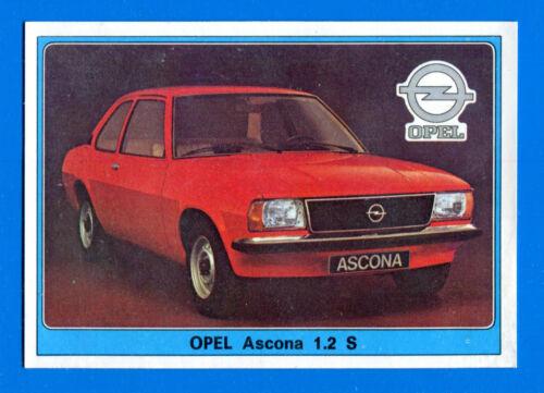OPEL ASCONA 1.2 S -Rec SUPER AUTO 151 Panini 1977 -Figurina-Sticker n