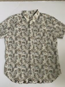 BILLY-REID-MENS-BUTTON-DOWN-SHIRT-Sleeve-SIZE-XLarge-Made-In-Italy