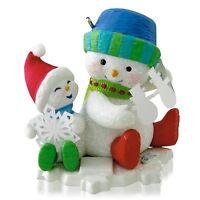 Snip 'n' Clip Fun 2014 Hallmark Making Memories Ornament 7 Snowman Snowflakes