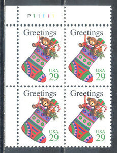 US-Stamp-L188-Scott-2872-Mint-NH-OG-Nice-Plate-Block-Christmas