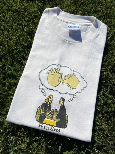 Vintage 90s Pornstar T Shirt Sz xL