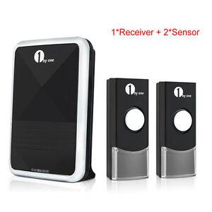 1byone Wireless Battery Digital Door Bell Chime LED Waterproof Remote Control