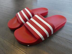 651814cbff0b Adidas Adilette slides men s shoes new sandals Light Scarlet Red ...