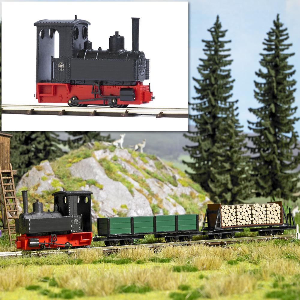 Busch 12140 H0f Dampflok Decauville Typ 3  | Umweltfreundlich