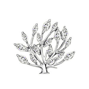 14k-White-Gold-plated-Tree-Leaf-with-CZ-Zircon-Crystals-brooch-pin