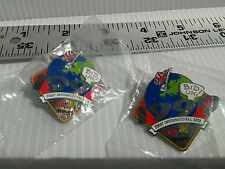 1999 Ebay FIRST INTERNATIONAL SITE eBay 10 YEARS Lapel Hat Pin LOT of 2