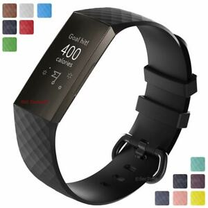 For-Fitbit-Charge-3-Replacement-Silicone-Watch-Strap-Band-Men-039-s-Women-039-s