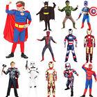 Halloween Costumes Kids Boy Spiderman Hulk Superman Cosplay Fancy Cloak Outfits