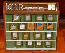 KREISLER STORE DISPLAY CASE WITH 17 MINT LIGHTERS 1960's BUTANE FLUIDE VINTAGE