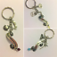 Once upon a time fairytale keyring keychain beauty and the beast little mermaid