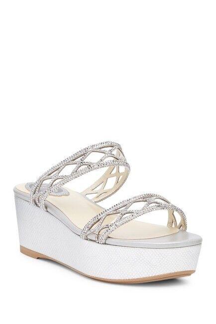 René Caovilla Wedding Platform Sandal Slides C09002-050-RAKAV114 Size 38 EU Prom