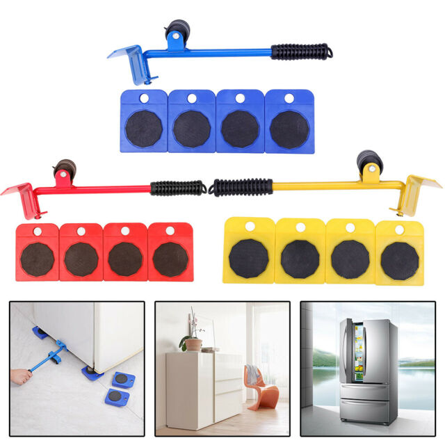 Heavy Furniture Shifter Lifter Wheels Moving Kit Slider Mover Sofa Moving X9Y7