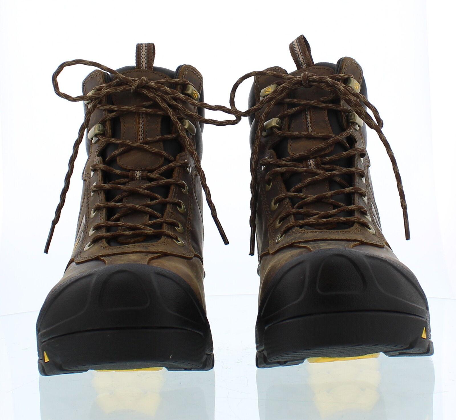 Keen Warren WP Steel Toe Cascade Brown Mens Size 10 D NWD