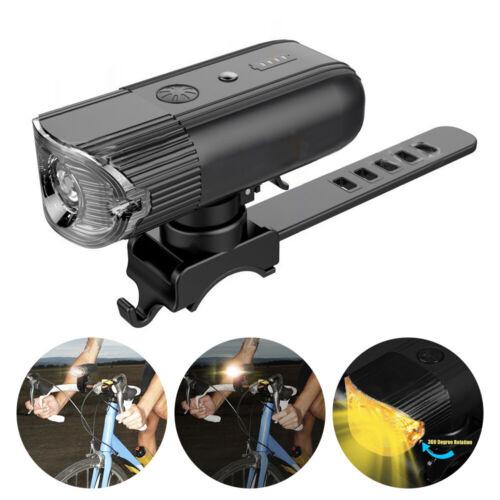 MTB Fahrradlicht LED Lampe Frontlicht IP65 Wasserdich USB Wiederaufladbar