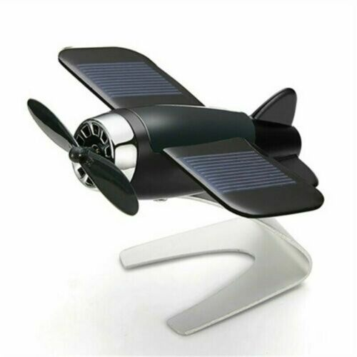 Solar car motion Aromatherapy Ornament Window Moving Aircraft Airplane Model A