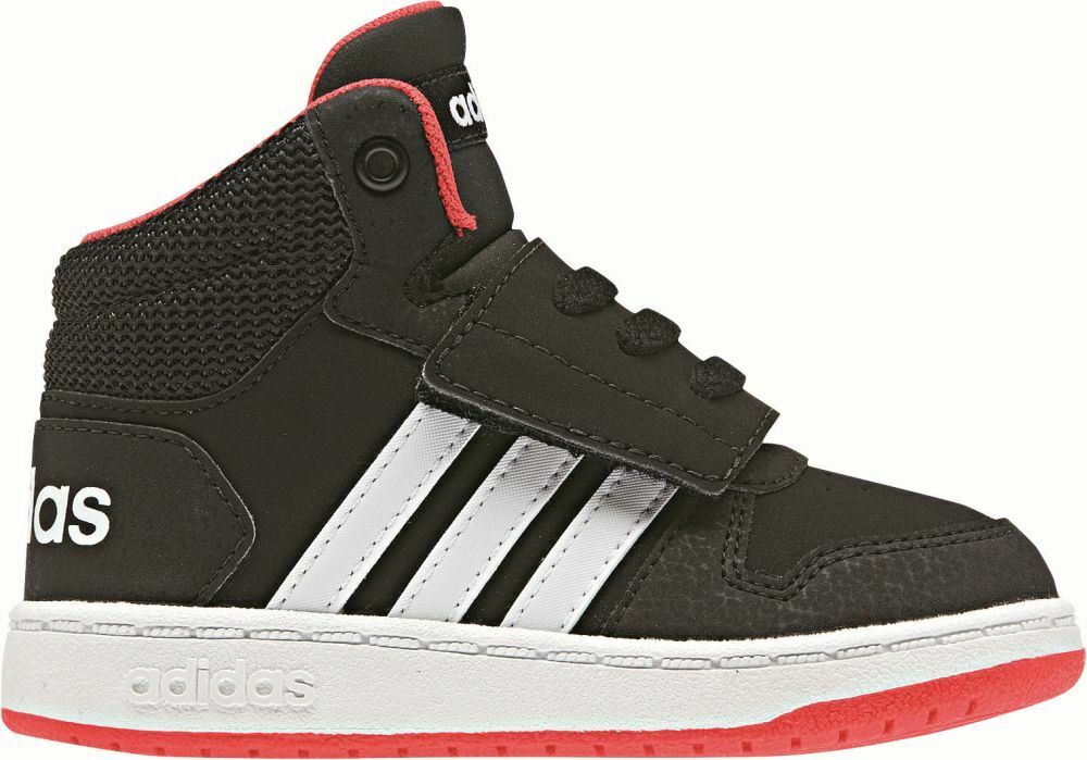 Adidas Hoops 2.0 Mid Kids Baby Toddler Sports Casual Strap shoes Trainers