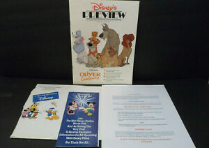 1988-Walt-Disney-Studios-Movie-Club-Charter-Member-Application-Magazine-Lot-of-4