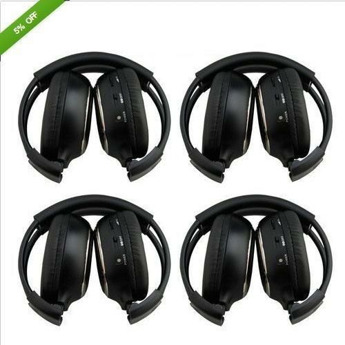 4* 2Channel IR Wireless Headsets For Headphones Headrest Car DVD Player Headphon