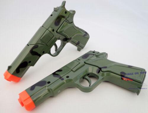 Toy Gun Military Detective 2X 9MM Pistol Cap Guns Camo