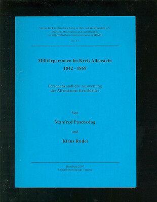 Militärpersonen Im Kreis Allenstein 1842-1869 Ostpreußen