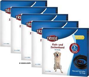DéTerminé Trixie Puce- Et Zeckenband Pour Chiens, 60 Cm Brun, 1er, 3er 5er Pack Économique Complet Dans Les SpéCifications
