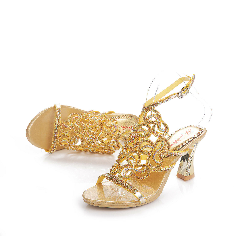 Luxury Wedding Donna Chic Rhinestone Wedding Luxury Bride High Heel Evening Dress Sandal Shoes 7aafcc