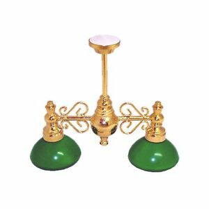 12 volt dollhouse mini lighting pool table lamp w green for 12 volt led table lamp