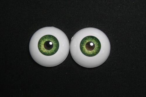 Bjd doll acrylic eyes 16 mm green for reborn dollfie msd yosd minifee crafts
