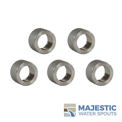 """3 3//8/"""" .375/"""" 316 SS Stainless Steel Thread Half Coupling Weld Pipe Bung />304"""