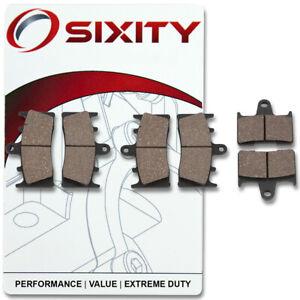 Front + Rear Ceramic Brake Pads 2001-2002 Suzuki GSX-R1000 Set Full Kit K1 pz