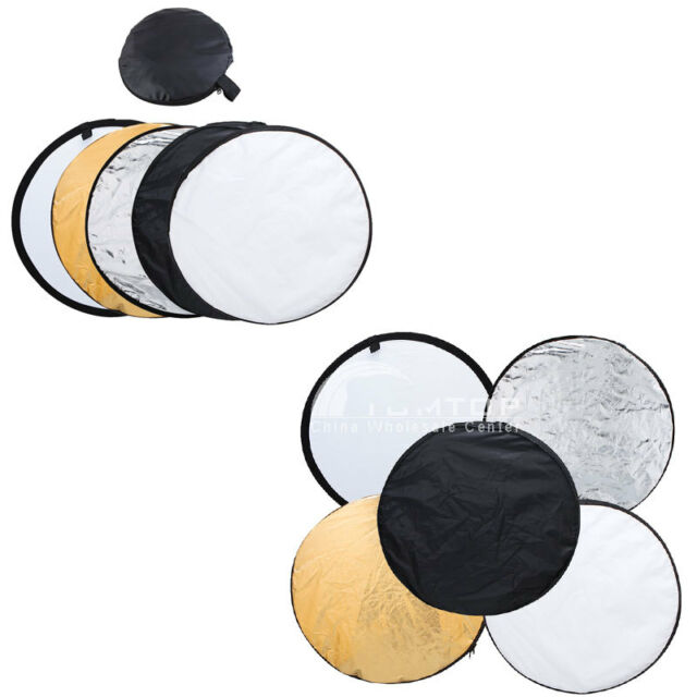 """24"""" 5 in 1 Photography Studio Photo Disc Collapsible Light Reflector 60cm TM US"""