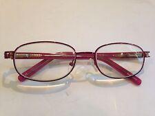 Genevieve Teresa Burgundy Rx Eyeglass Frames  53-18-135 Metal & Plastic