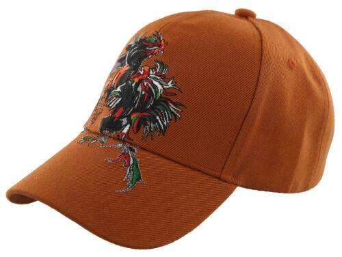 COCKS FIGHT SHADOW BALL CAP HAT ORANGE NEW