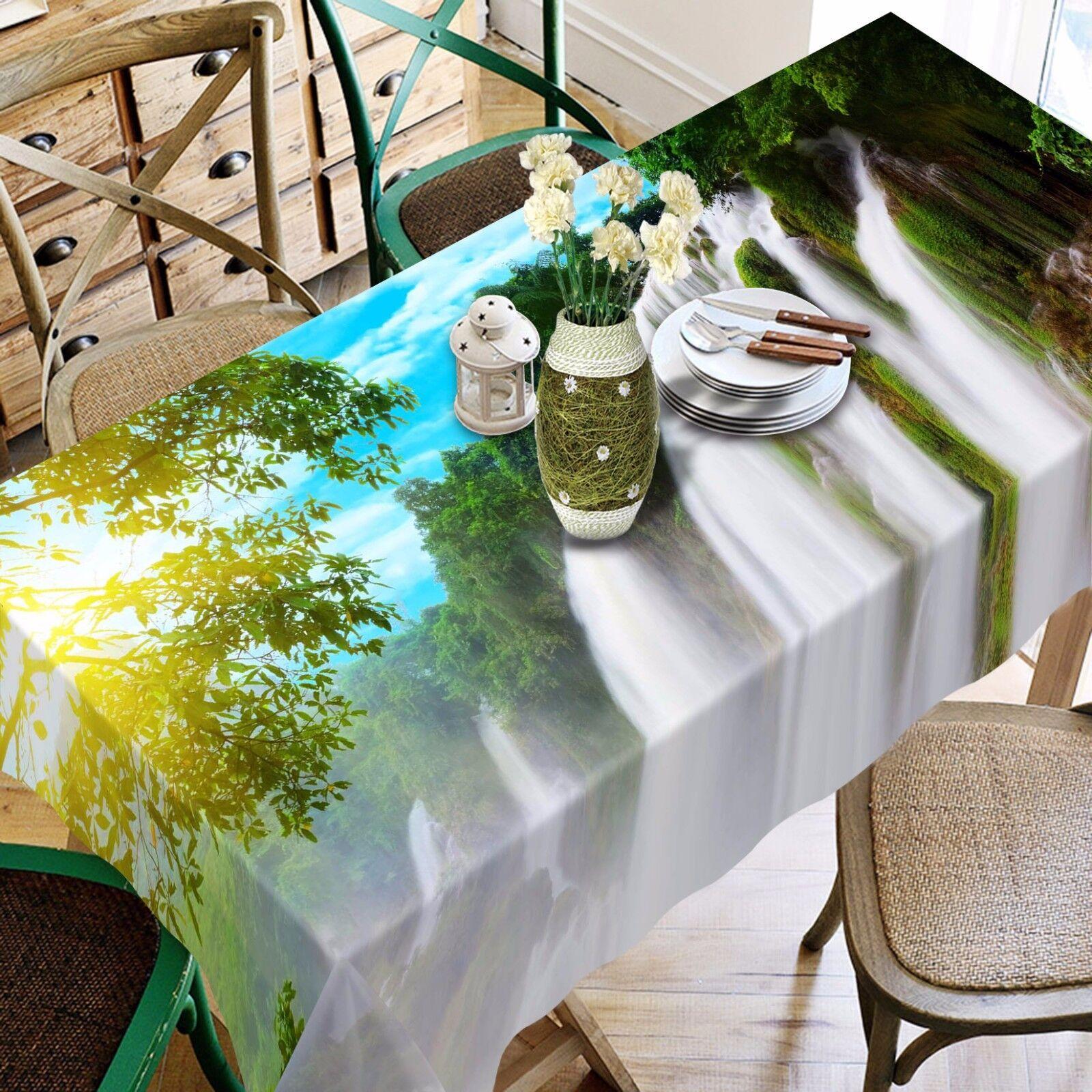 3D Sun Tree 899 Nappe Table Cover Cloth Fête D'Anniversaire ÉvéneHommest AJ papier peint UK