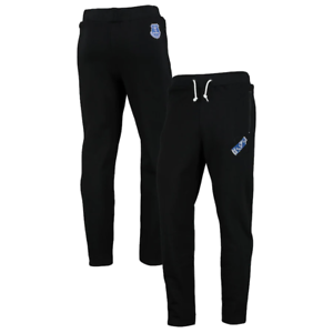 Black Everton Men/'s Pants Joggers Football Split Graphic Trousers New