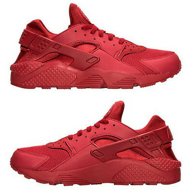 the latest 305da 6c59c NIKE AIR HUARACHE RUN MEN's M SPANDEX RUNNING VARSITY RED AUTHENTIC TRIPLE  RED | eBay