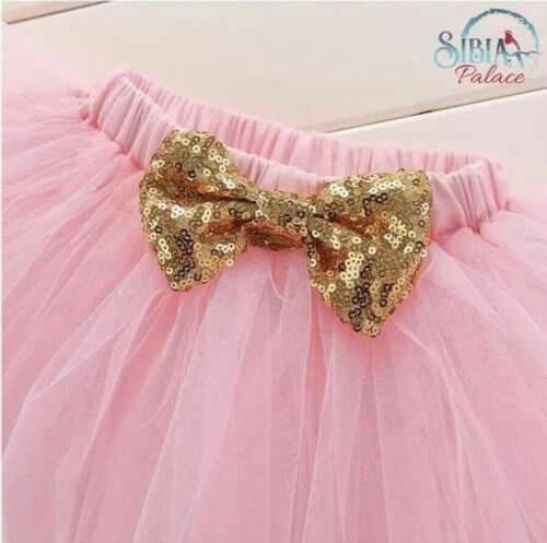 Rainbow Pink First Birthday Tutu Outfit Baby Girl 1st Cake Smash One Photo shoot