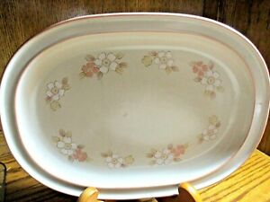 Chantilly Hearthside Fleur De Bois Platter Japan Stoneware Dogwood Floral    537