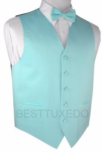 Formal Dress Wedding Prom Bow-Tie and Hankie Set Men/'s Solid Satin Tuxedo Vest