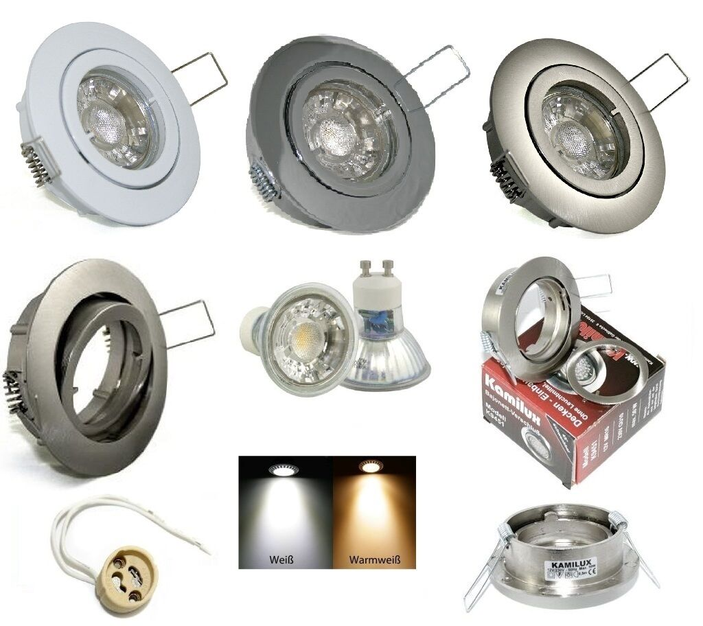Aluminium Strahler Lana 230V GU10 5 Watt = 50 Watt Power Led Dimmbar