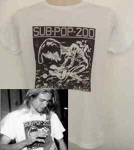 Sub-Pop-T-Shirt-worn-by-Kurt-Cobain-Nirvana-Sonic-Youth-Fugazi-Pavement